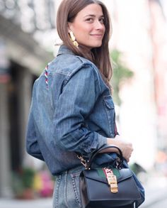 """""""The Gucci mini Sylvie bag is at the top of my wish list. I love that you can carry it with the top handle or cross body depending on the occasion,"""" says Harper's BAZAAR accessories editor Amanda Alagem. Purchase the bag by clicking the photo."""