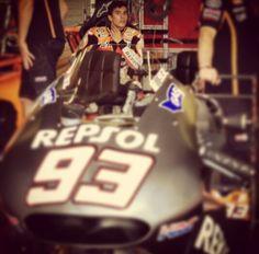 Marquez testing Honda motogp 2015 in Brno