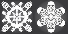 """As he does every year, artist and designer Anthony Herrera has created a series of cool Star Wars Rogue holiday snowflake design, and this year, he based his templates on the upcoming """"Rogue …"""