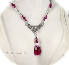 Crystal Ruby Red Necklace