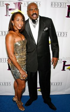 Marjorie Harvey Actor/comedian Steve Harvey (R) and his wife Marjorie Harvey arrive at the seventh annual Hoodie Awards at the Mandalay Bay Events Center August 2009 in Las Vegas, Nevada. Celebrities, Black Celebrities, Black Love, Black Hollywood, Black Couples, Steve, Celebrity Siblings, Marjorie Harvey, Black Celebrity Couples