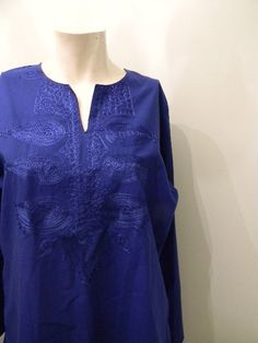 vintage.  Moroccan Style Blue Coton Rayon Tunic  / by styleforlife, $42.25