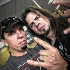Casey Grillo of #Kamelot and Todd La Torre of #Queensryche, May 2014