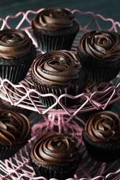 Devil's Food Cupcakes with Dark Chocolate Frosting