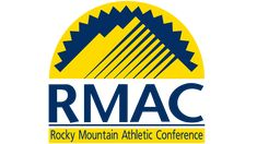 The Rocky Mountain Athletic Conference logo features an abstract depiction of the mountain and the sun rising above it. Conference Logo, Hockey Logos, Blue Streaks, Rocky Mountains, Evolution, Meant To Be, Athletic, History, Blue Stripes