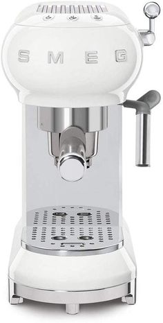 Smeg Machine à café espresso, 1350 W, Chrome, Blanc Café Espresso, Smeg, Espresso Machine, Coffee Maker, Kitchen Appliances, Amazon Fr, Studio, Home Kitchens, Brickwork