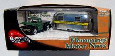 HOT WHEELS HEMMINGS MOTOR NEWS '49 AIRSTREAM CLIPPER & '56 FORD PICKUP NOTE: #HotWheels #Ford