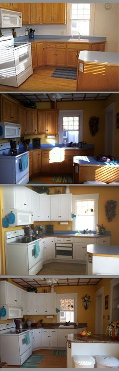 1000 images about kitchens on pinterest turquoise for Cheap way to refinish kitchen cabinets