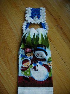 Christmas Crochet Towel Holder