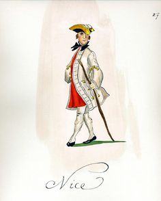 French Army 1735 - Infantry Regiment Nice, by Gudenus.