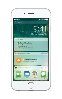 Notifications, news and widgets automatically light up on the lock screen in iOS 10