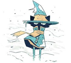 The Coffee Mage is wrapped yo in layers from the cold but it doesn't stop icicles! Game Character Design, Character Design References, Character Design Inspiration, Character Concept, Character Art, Cartoon Design, Cartoon Styles, Character Illustration, Illustration Art