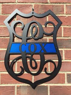 Thin Blue Line, Police lives Matter, Monogram Door Wreath, Police Badge, Police Door Wreath, Law Enforcement, Decor, Police Decor, LEO, by HouseSensationsArt