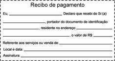 Modelo de recibo de pagamento simples