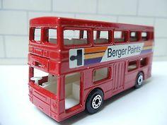 1973 MATCHBOX LESNEY SUPERFAST #17 THE LONDONER BERGER PAINTS BUS WITH BOX 1/64 - http://www.matchbox-lesney.com/44751