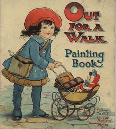 ''OUT FOR A WALK PAINTING BOOK'', illus. A. L. Bowley