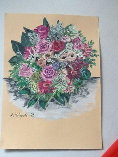 Ein bunter Blumenstrauß :-)  -mit Tusche