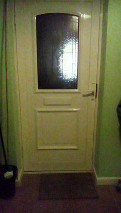 February 9th - front door. Our front door from indoors.