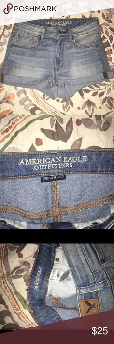 American Eagle Shorts American Eagle High Waisted Super Stretch Shorts. Size 4. Never worn. Brand new without tags. No trades. Make me an offer! American Eagle Outfitters Shorts Jean Shorts
