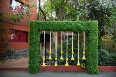 Photo By Pink Pagdi - Wedding Planners Wedding Hall Decorations, Desi Wedding Decor, Marriage Decoration, Wedding Entrance, Wedding Mandap, Backdrop Decorations, Flower Decorations, Backdrops, Diwali Decorations