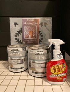 Painting Tile Floors, Painted Floors, Stencil Painting, Ceramic Painting, Rock Solid Rustoleum, Rustoleum Floor Paint, Paint Linoleum, Tile Steps, Small Paint Brushes