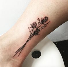 Dried flowers tattoo by Hongdam