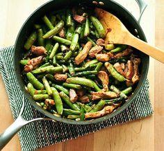 Pork Stir-Fry w/ Asparagus & Sugar Snap Peas