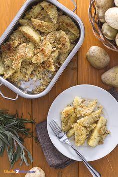 La #ricetta è semplicissima: gustosi spicchi di #patate avvolti da una panatura…