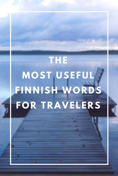 VIDEO: Learn Finnish with me! The most useful Finnish words for travelers.