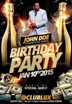 Disco Party Flyer  Disco Party Party Flyer And Discos