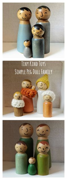 Diverse peg doll families for hours of imaginative play with your little one. All Toys, Kids Toys, Child Doll, Baby Dolls, Modern Kids Decor, Green Toys, Natural Toys, Wooden Pegs, Imaginative Play