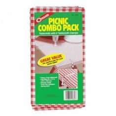 Picnic Combo Pack Vinyl Table Cloth Cover With Durable Clamps 54 X 72 Inch New