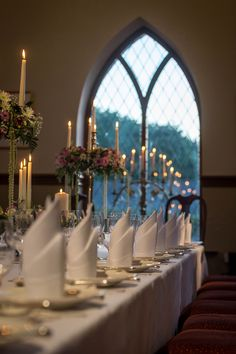 Fine dining, wedding banquet, private dining in the 18th century abbey at Glenlo Abbey Hotel Galway, Ireland http://www.glenloabbeyhotel.ie/en/5-star-wedding-venue-galway/