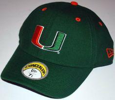 Miami Hurricanes New Era Green Fitted Hat Cap New Era. $4.99