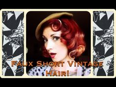 Tutorial for pin curls using a curling wand and faking a bob Vintage Marilyn Monroe Faux Short Pin Curl Hair Tutorial by CHERRY DOLLFACE http://youtu.be/XGbjr6h_1jw