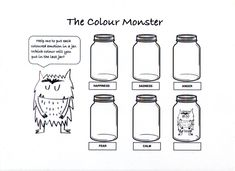 The Colour Monster - What Children Really Want Worry Monster, Monster Go, Monster Book Of Monsters, Social Emotional Activities, Feelings Activities, Color Activities, Play Therapy Activities, Monster Activities, Drawing Activities