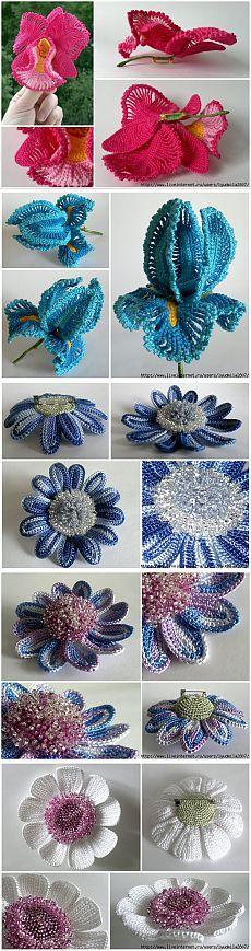 Ксения Николаева и её чудесные цветы крючком (1) | Домохозяйки