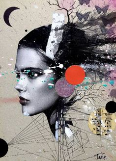 "Saatchi Art Artist LOUI JOVER; Collage, ""rumors"" #art"