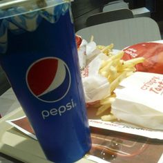 a Supercharger Meal with a large Pepsi @ KFC in Birmingham City Centre