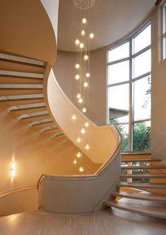 Basement Stairway Lighting Ideas Large Wall Decor Ideas For Living Room: Interior Design Paint Ideas Basement Stairway Lighting Ideas Ceiling Fan Chandelier Kit Stairway Lighting, Entryway Lighting, Entryway Decor, Entryway Ideas, Lobby Design, Lustre Grande, Open Concept House Plans, Blitz Design, Bubble Chandelier