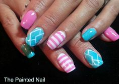 Day 67: Geometric Gel-Polish Nail Art - - NAILS Magazine