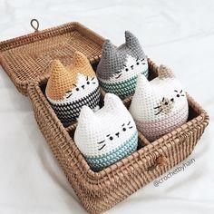 Crochet by HainさんはInstagramを利用しています:「 Pattern by @bigbebez . #crochet #handmade #amigurumi #yarnlove #yarn #手編み #編み物 #あみぐるみ #手作り #いぬ #cute #可愛い #handmadecrochet #猫 #ねこ部 #cats…」