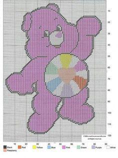 CARE BEAR - HOPEFUL HEART BEAR by CREATIVECANVASCRAFTS.COM 2/2