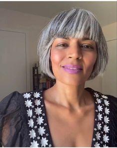 Grey Hair Over 50, Short Grey Hair, Short Hair Styles, Grey Bob Hairstyles, Bobbed Hairstyles With Fringe, Scene Hairstyles, Haircuts, Grey Hair Journey, Silver White Hair