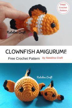 Crochet Fish Amigurumi Baby Clownfish Patrones Amigurumi