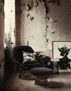 Warren Platner lounge chair, ottoman  stool for Knoll by Lotta Agaton