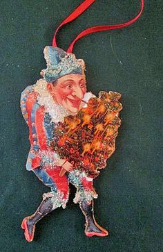 Punch & Judy Christmas Ornament Handcrafted on Wood