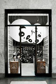 GLOBO lights personalised as pandas for a Pomellato shop. #dodo #panda #blackandwhite