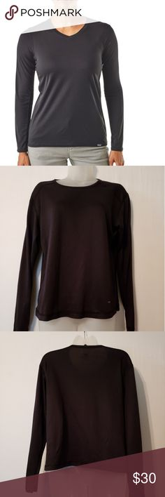 126d2ebb3e4d ... sleeve women's shirt Patagonia capline long sleeve womens shirt Black  in color Size large polyester Great condition Patagonia Tops Tees - Long  Sleeve