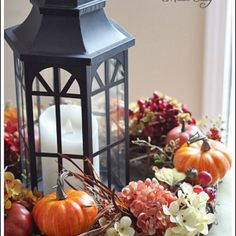 Thanksgiving and Fall Table Centerpiece